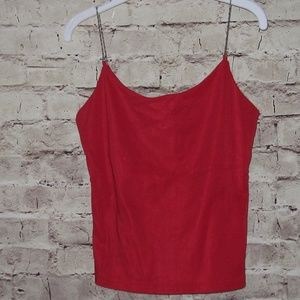 Gorgeous chain strap forever 21 red tank top